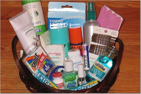 Hospitality basket wenning entertainment for Bathroom basket ideas for wedding