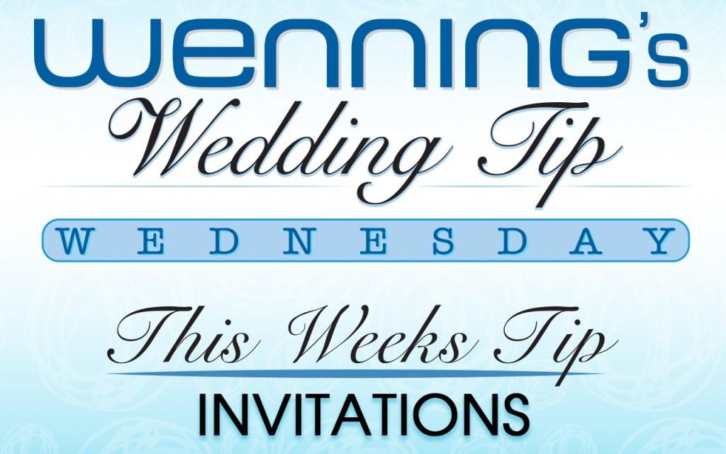 Wenning Tips, Wedding Tips